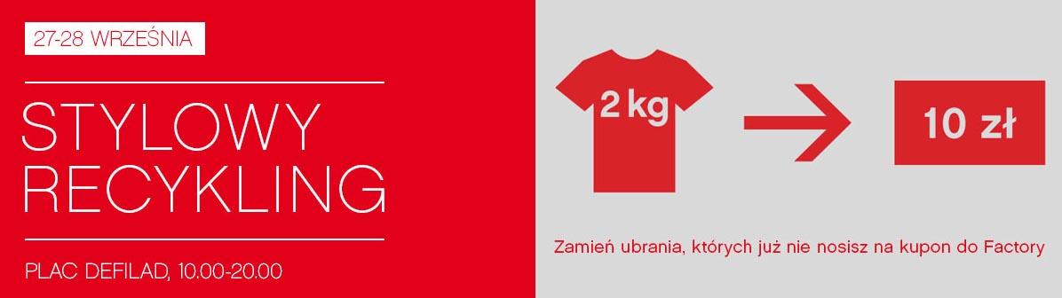 Wymień stare ubrania na kupony zakupowe w centrum Factory w Warszawie 27-28 września 2014