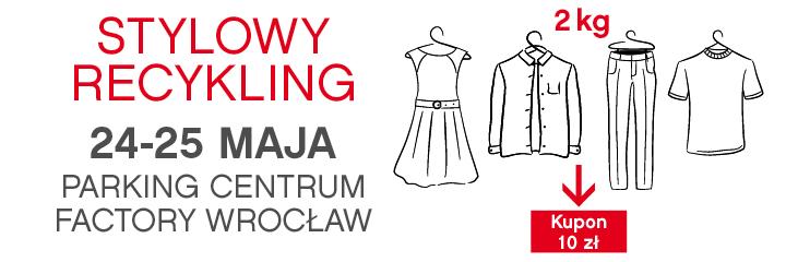 Wymień stare ubrania na kupony zakupowe w centrum Factory we Wrocławiu 24-25 maja 2014