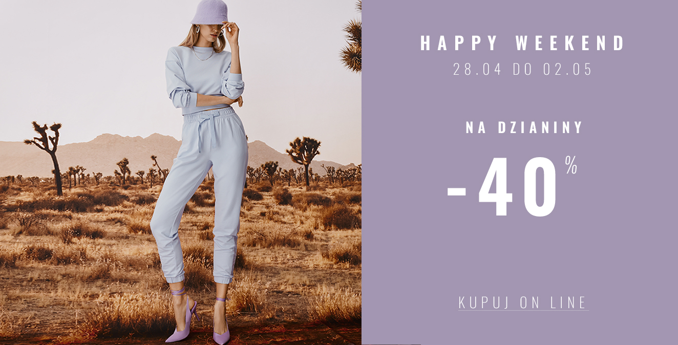 Femestage Eva Minge: 40% rabatu na dzianiny - happy weekend