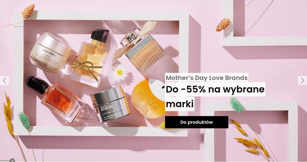 Flaconi: do 55% rabatu na wybrane marki kosmetyków oraz perfum z okazji Dnia Mamy