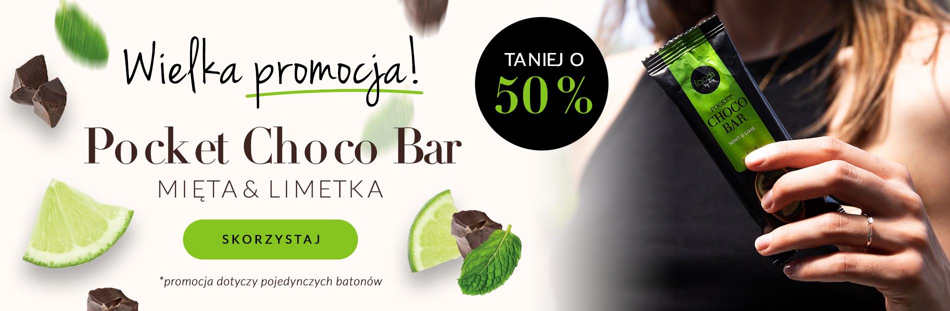 Foods by Ann: do 50% zniżki na Pocket Choco Bar mięta i limetka