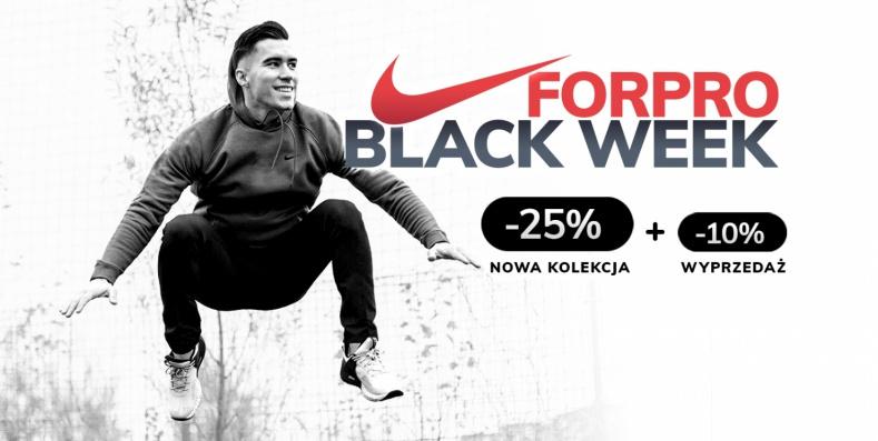 ForPro: Black Week 25% rabatu na nową kolekcję oraz 10% rabatu na wyprzedaż obuwia i odzieży sportowej Nike