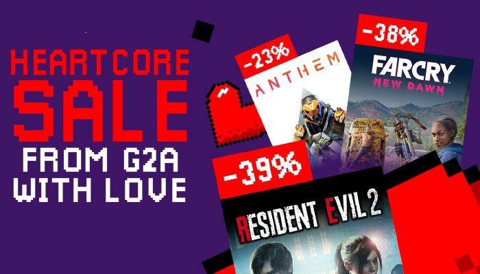 G2A: wyprzedaż do 97% rabatu na gry komputerowe                         title=