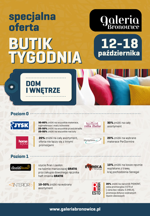 Butik tygodnia w krakowskiej galerii Bronowice 12-18 października 2015
