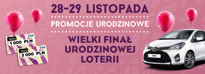 Weekend Urodzinowy w krakowskiej galerii Bronowice 28-29 listopada 2015                         title=