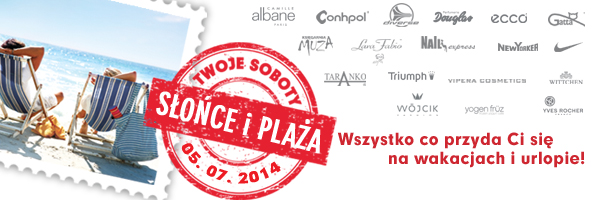 Słońce i Plaża w galerii Madison w Gdańsku 5 lipca 2014