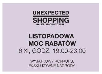 Noc Zakupów w warszawskiej galerii Mokotów 6 listopada 2014