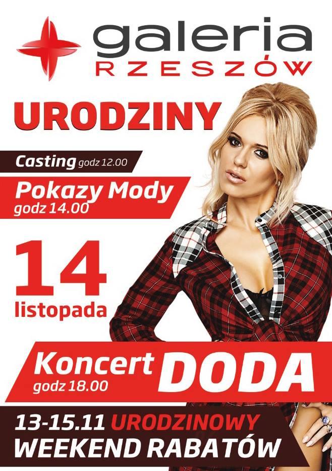 Urodzinowy weekend rabatów w galerii Rzeszów 14 listopada 2015                         title=