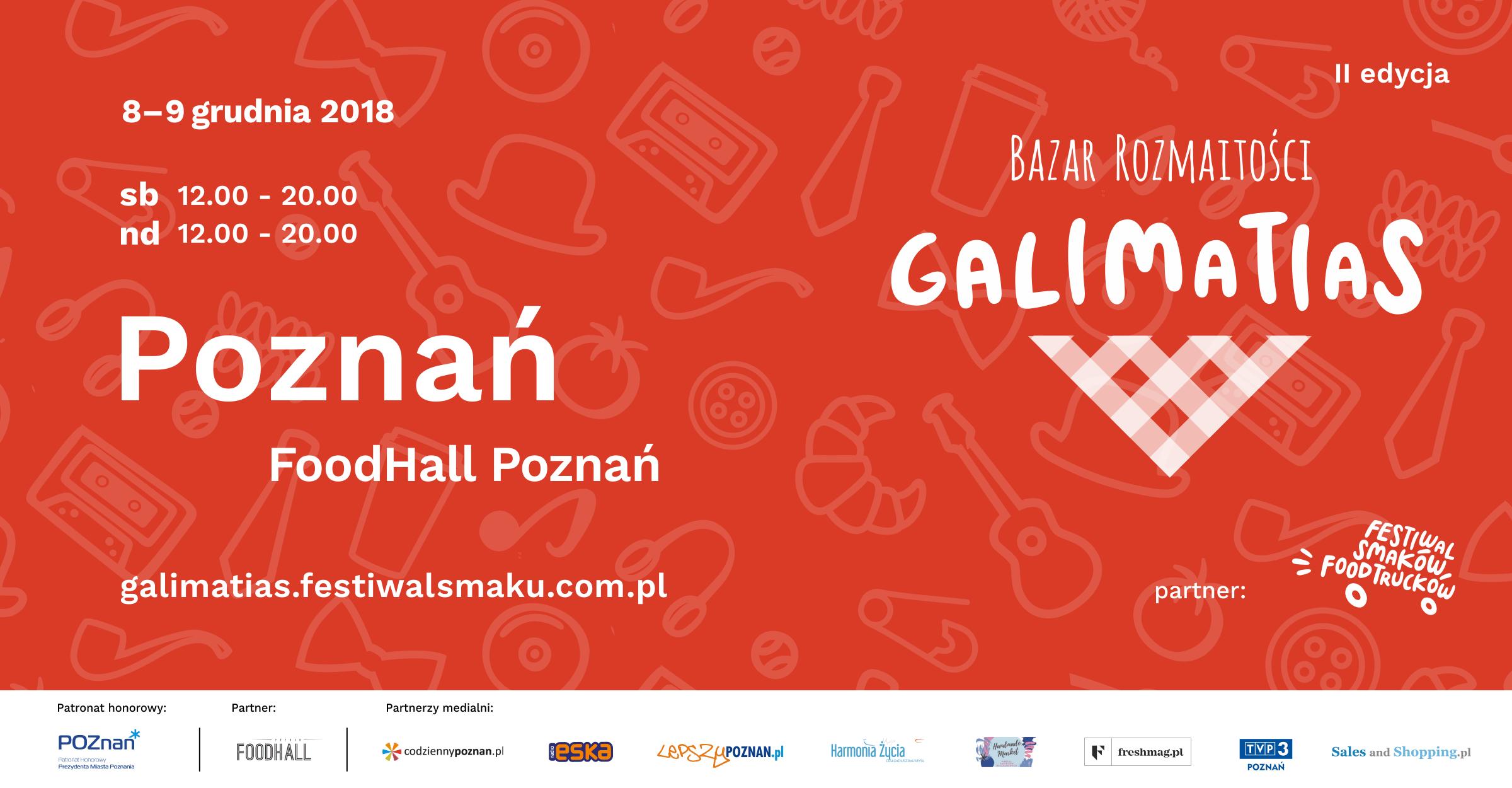 Galimatias Bazar Rozmaitości w Poznaniu 8-9 grudnia 2018                         title=