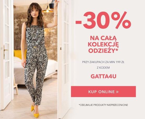 Gatta: 30% zniżki na całą kolekcję odzieży nieprzecenionej przy zakupach za min. 199 zł