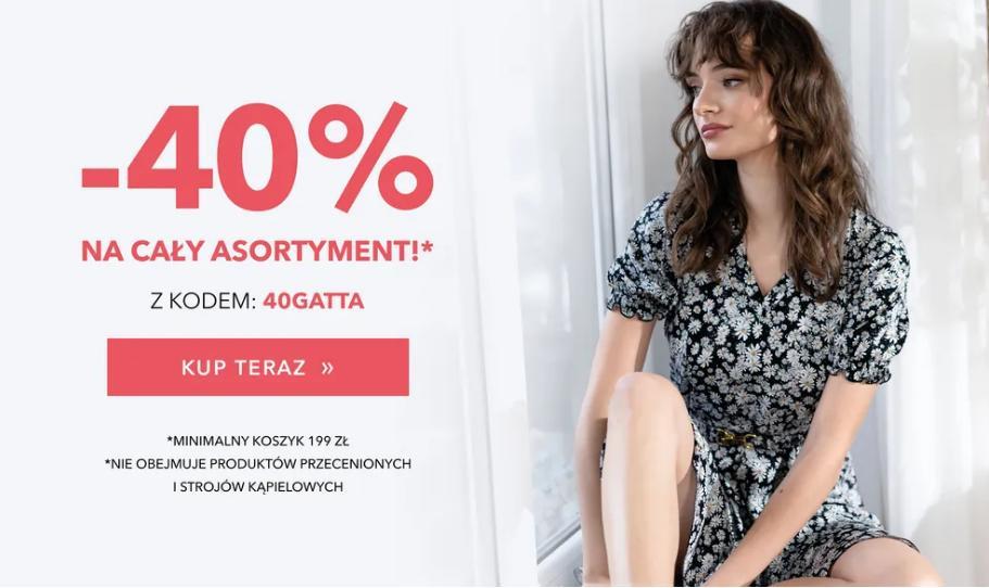 Gatta Gatta: 40% zniżki na cały asortyment m.in. bieliznę damską oraz męską