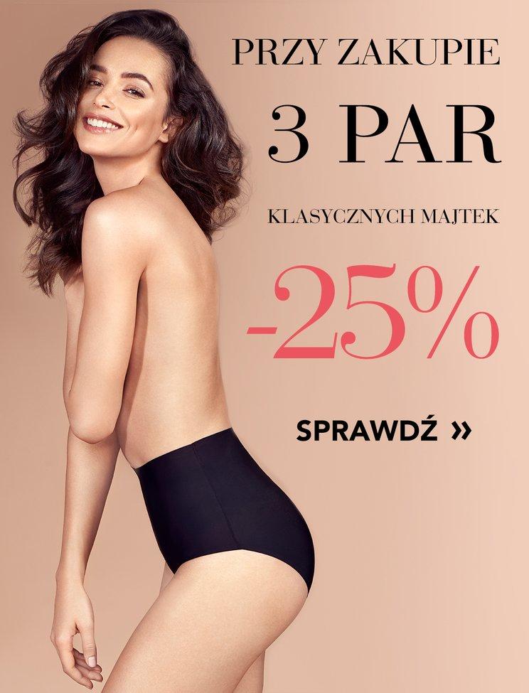 Gatta: 25% rabatu przy zakupie 3 par klasycznych majtek damskich