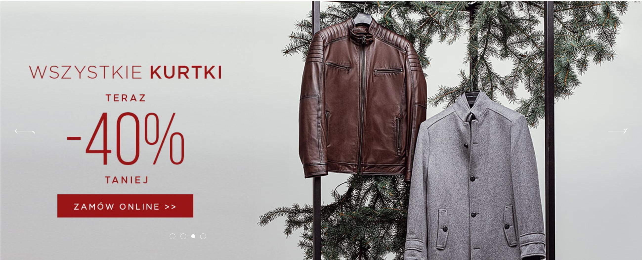 Giacomo Conti: 40% rabatu na wszystkie kurtki męskie