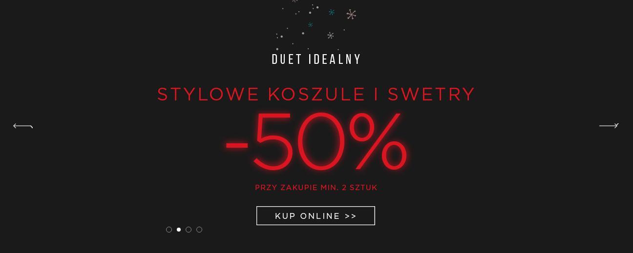 Giacomo Conti Giacomo Conti: 50% zniżki na stylowe koszule i swetry męskie