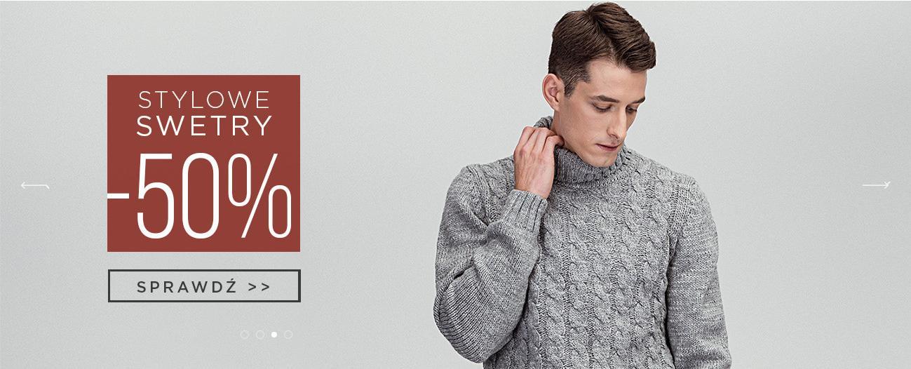 Giacomo Conti: 50% rabatu na stylowe swetry męskie