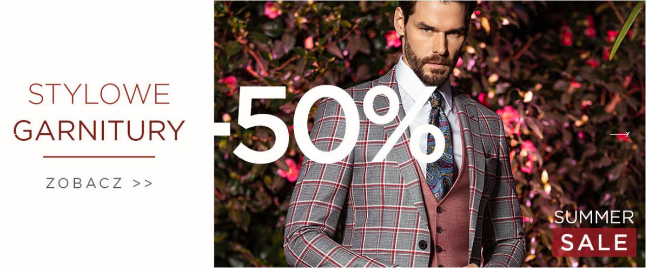 Giacomo Conti: wyprzedaż 50% zniżki na stylowe garnitury                         title=