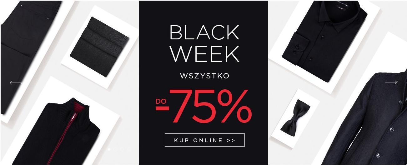 Giacomo Conti: Black Week do 75% zniżki na odzież męską