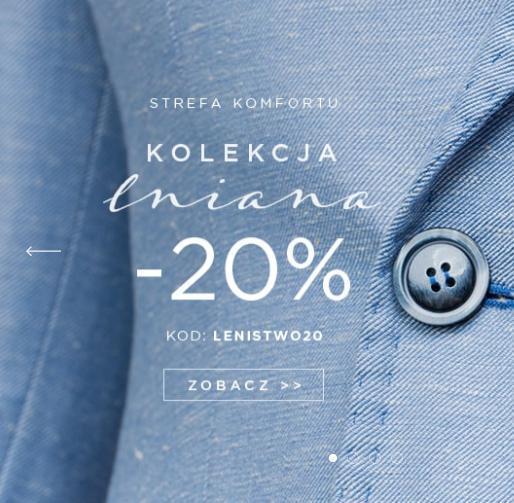 Giacomo Conti: 20% rabatu na kolekcję lnianą odzieży męskiej