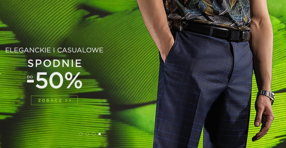 Giacomo Conti: do 50% zniżki na spodnie eleganckie oraz casualowe