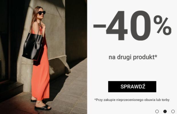 Gino Rossi: 40% rabatu na drugi produkt przy zakupie nieprzecenionego obuwia lub torby