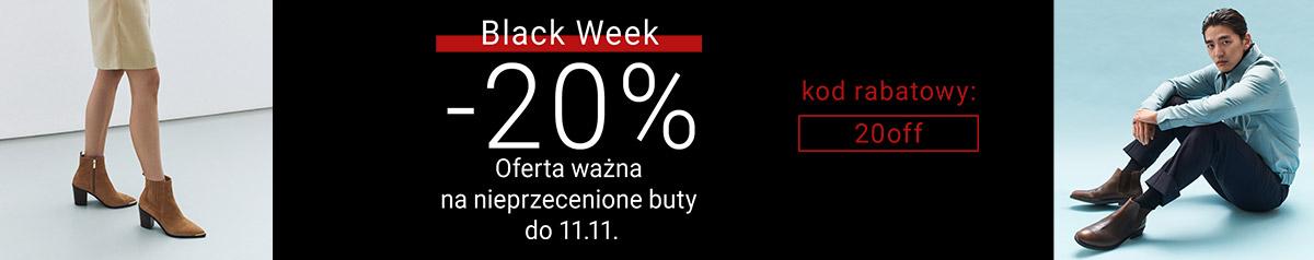 Gino Rossi Gino Rossi: Black Week 20% rabatu na nieprzecenione buty damskie i męskie
