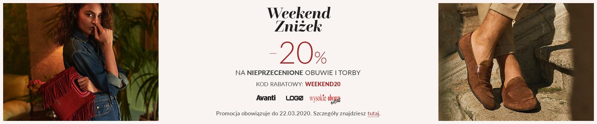 Gino Rossi: Weekend Zniżek 20% rabatu na obuwie damskie i męskie                         title=