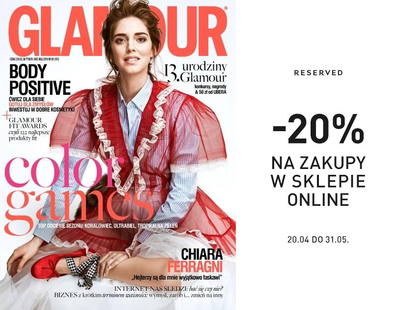Reserved: 20% kupon rabatowy w magazynie Glamour                         title=