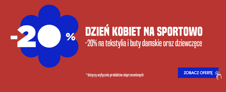 Go Sport: z okazji Dnia Kobiet 20% zniżki na tekstylia oraz buty damskie i dziewczęce