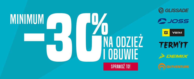 Go Sport: min. 30% rabatu na odzież i obuwie sportowe