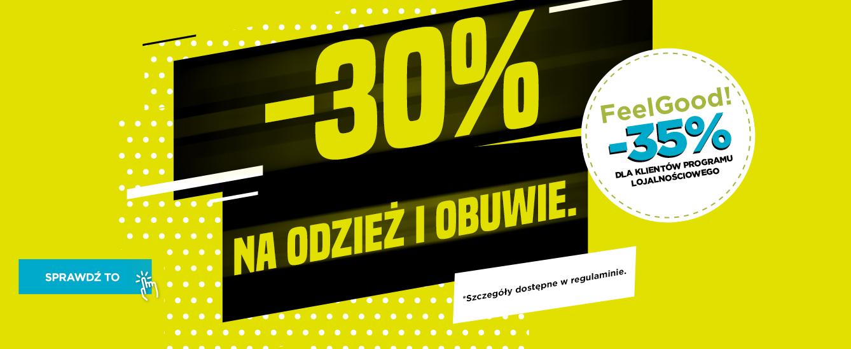 Go Sport: 30% rabatu na odzież i obuwie sportowe