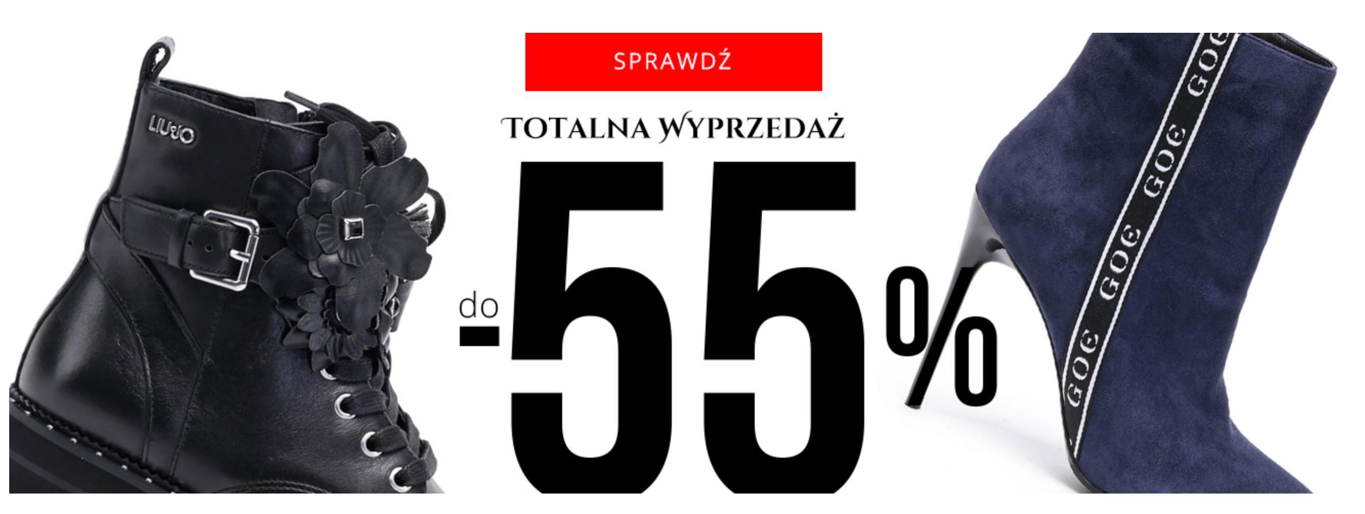 Goe Goe: totalna wyprzedaż do 55% rabatu na wybrane obuwie damskie i męskie