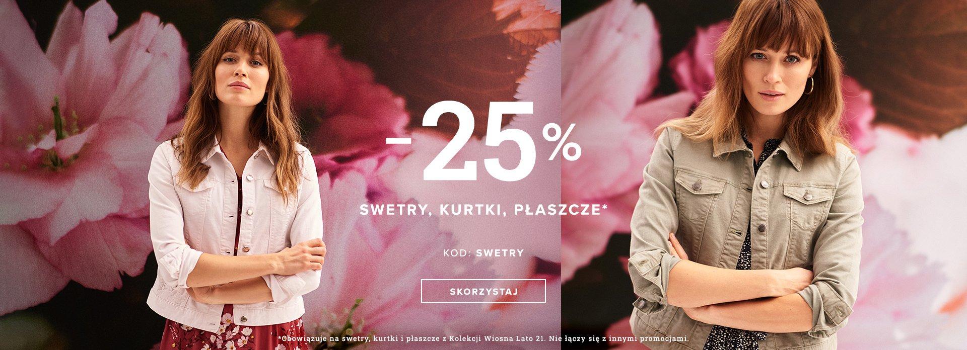 Greenpoint Greenpoint: 25% zniżki na swetry, kurtki i płaszcze