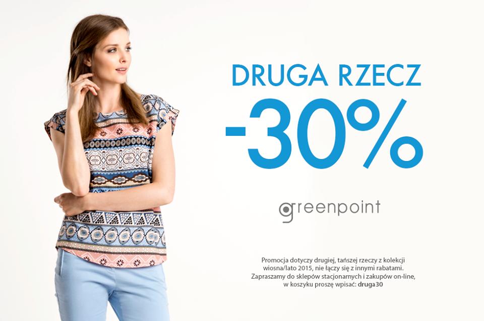 Greenpoint: 30% zniżki na drugą rzecz