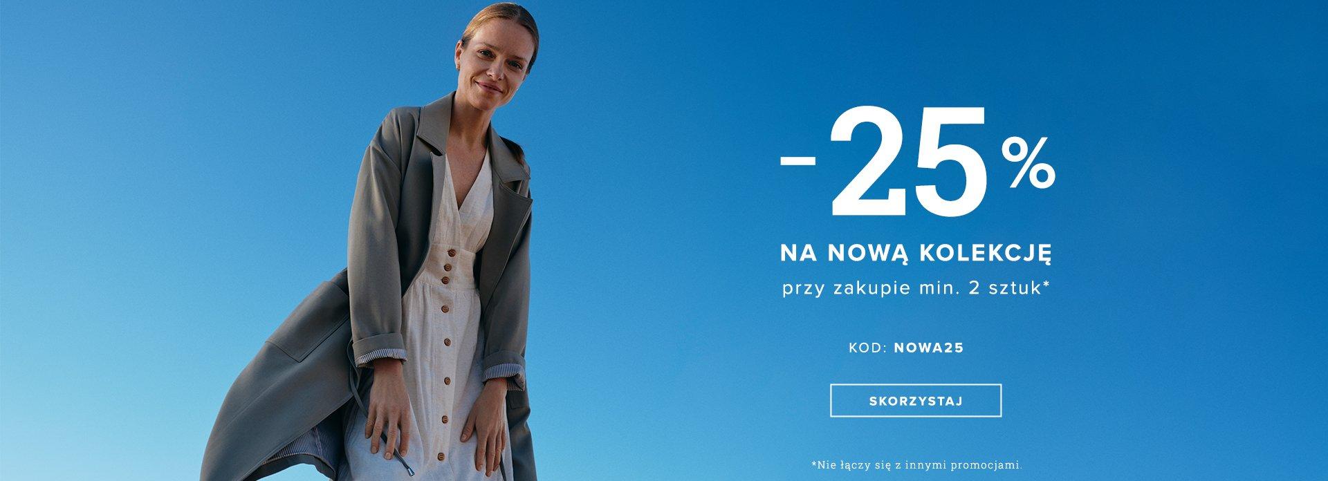 Greenpoint Greenpoint: 25% zniżki na nową kolekcję odzieży damskiej przy zakupie min. 2 szt