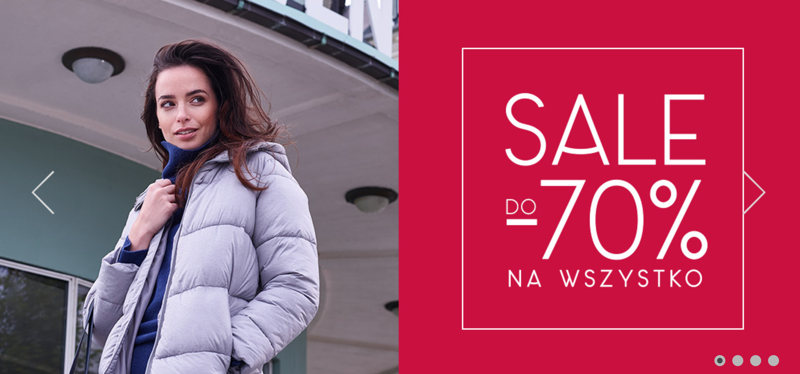 40028fc508 Greenpoint  wyprzedaż do 70% rabatu na całą kolekcję odzieży damskiej
