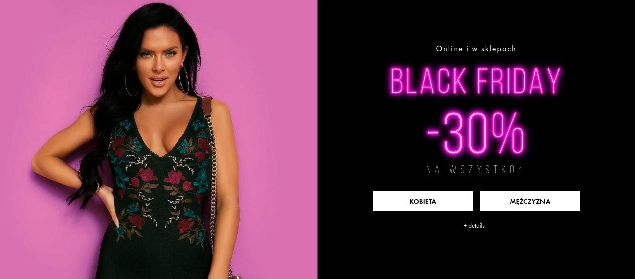 Guess: Black Friday 30% rabatu na cały asortyment odzieży damskiej oraz męskiej