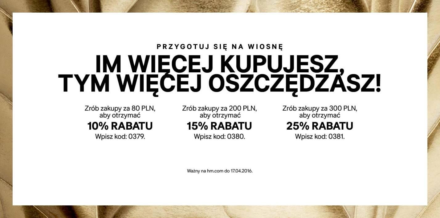 H&M: rabaty do 25% zniżki