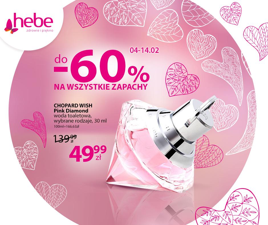Hebe: promocja do 60% zniżki na wszystkie zapachy