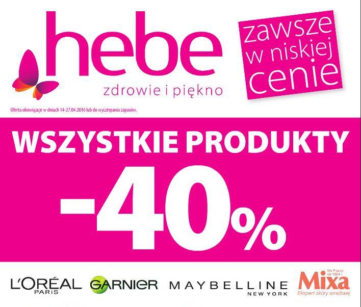 Hebe: 40% zniżki na wybrane marki
