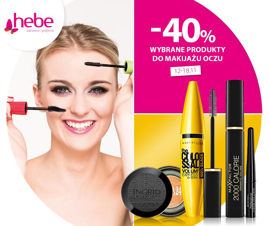 Hebe: 40% zniżki na wybrane produkty do makijażu oczu                         title=