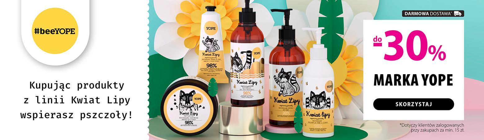 Hebe Hebe: do 30% rabatu na kosmetyki marki Yope dla zalogowanych przy zakupach za min. 15 zł