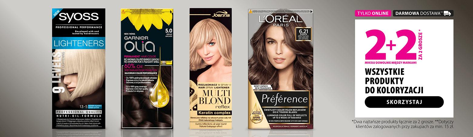 Hebe: kup 2 produkty do koloryzacji włosów, a kolejne 2 otrzymasz za 2 grosze
