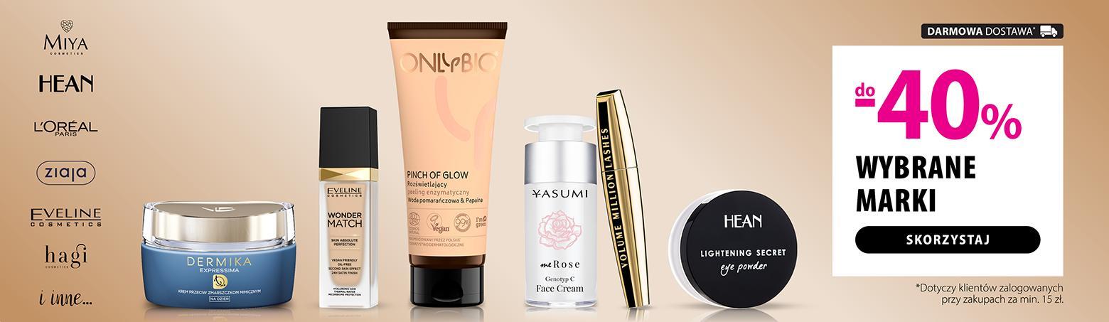 Hebe: do 40% rabatu na wybrane marki kosmetyków m.in Onlybio, Yasumi, Dermika