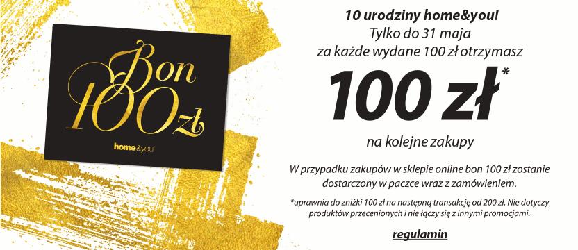 10 Urodziny Home&You: bon o wartości 100 zł                         title=
