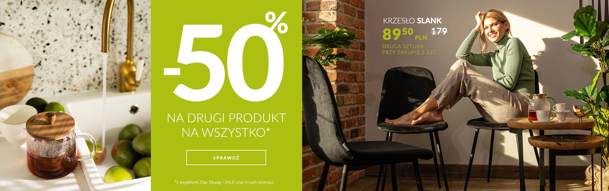 Homla: 50% rabatu na drugi produkt z całego asortymentu
