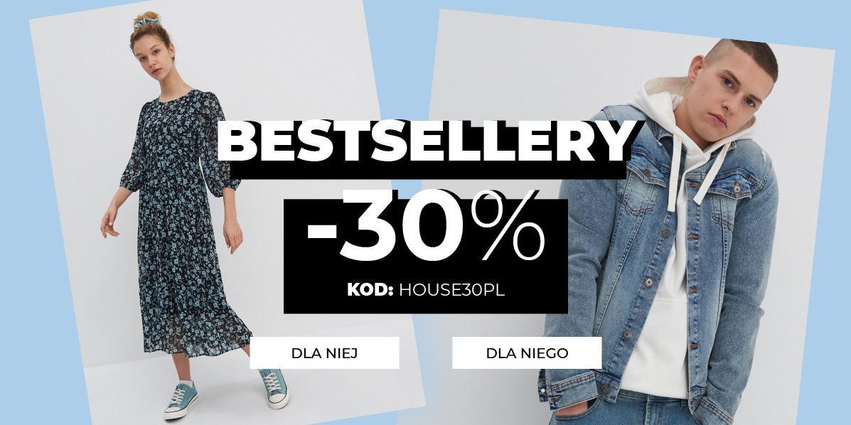 House House: 30% rabatu na odzież damską oraz męską