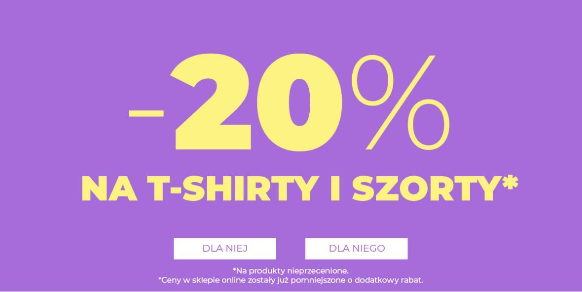 House House: 20% zniżki na t-shirty i szorty nieprzecenione