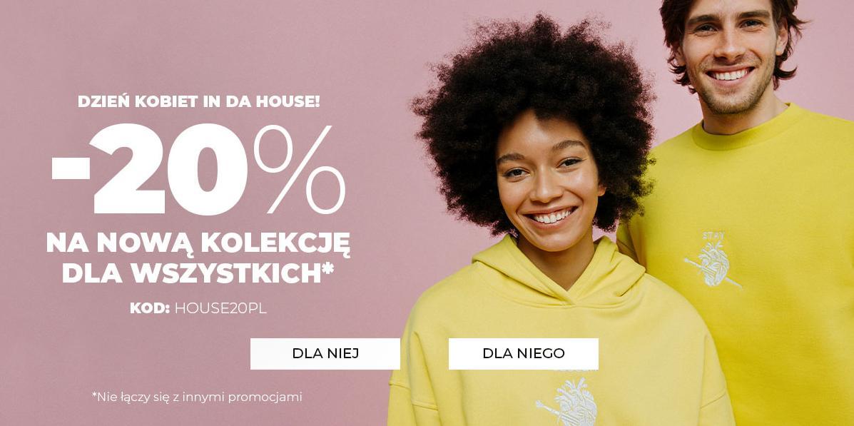 House House: 20% zniżki na nową kolekcję odzieży i obuwia - promocja na Dzień Kobiet