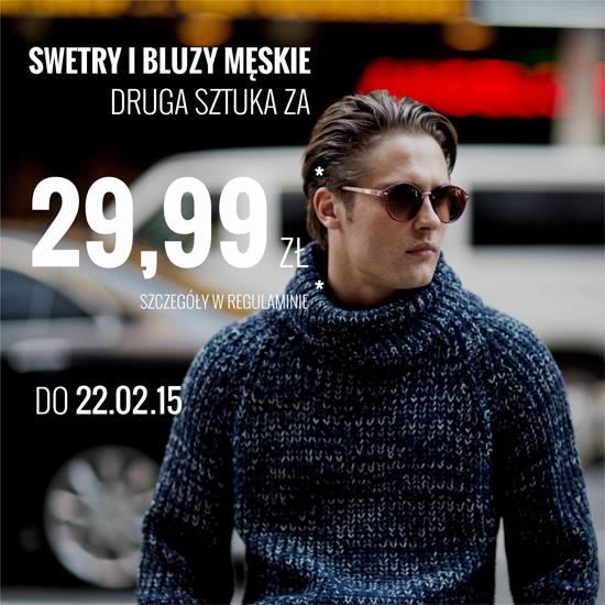 House: swetry i bluzy męskie - druga sztuka za 29,99 zł