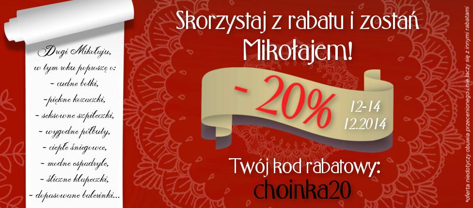 Intershoe: rabat 20% z okazji Świąt